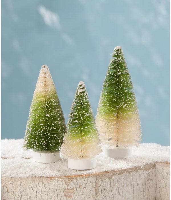 Green Ombre Mini Bottle Brush Trees S3