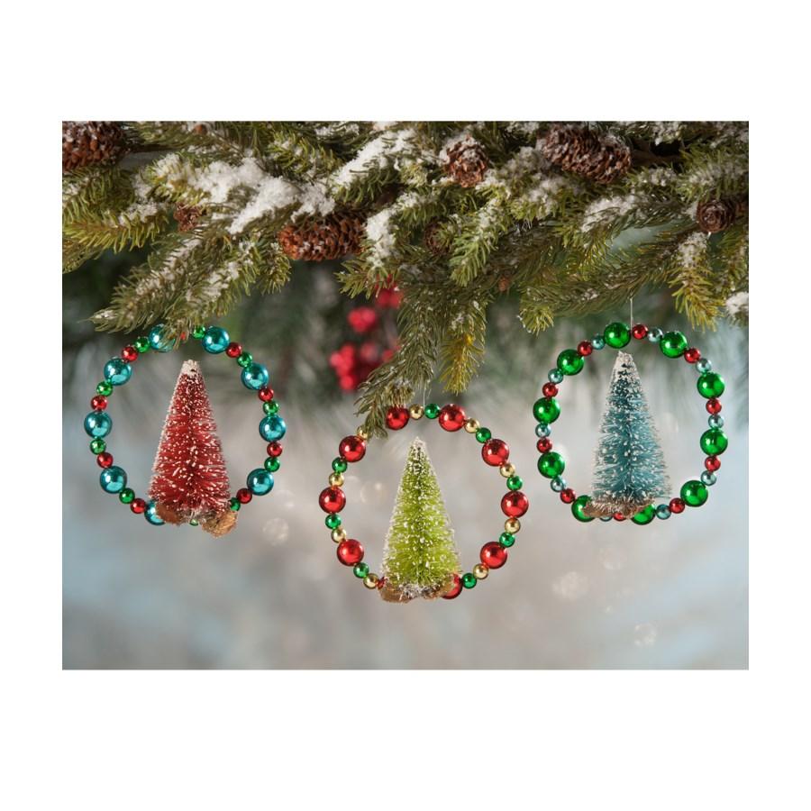 Beaded Wreath W/ Tree Ornament 3/A