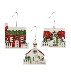 Merry & Bright House Ornament 3/A