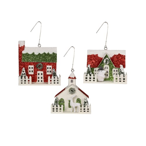 Merry & Bright House Ornament 3A