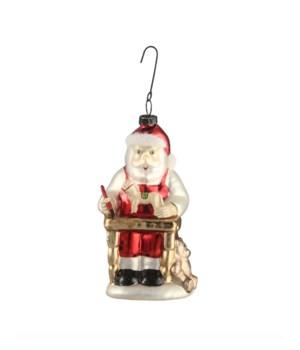 Santas Workshop Glass Ornament