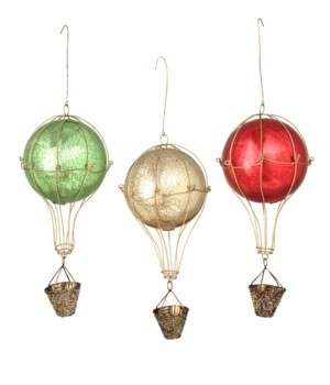 Traditional Hot Air Balloon Ornament 3A