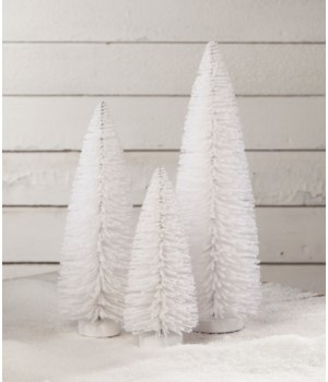 Winter White Flocked Trees S3