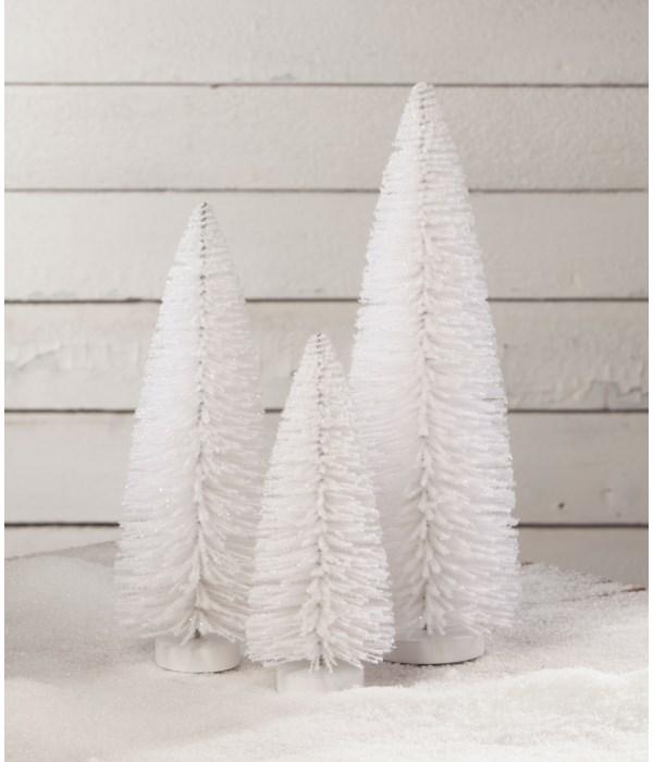 Winter White Flocked Trees S3