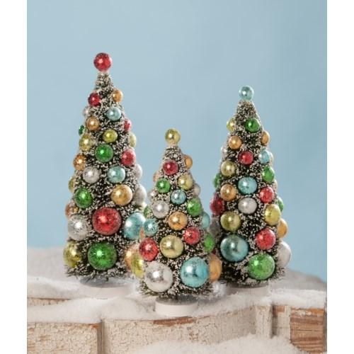 Merry & Bright Bottle Brush Trees S3