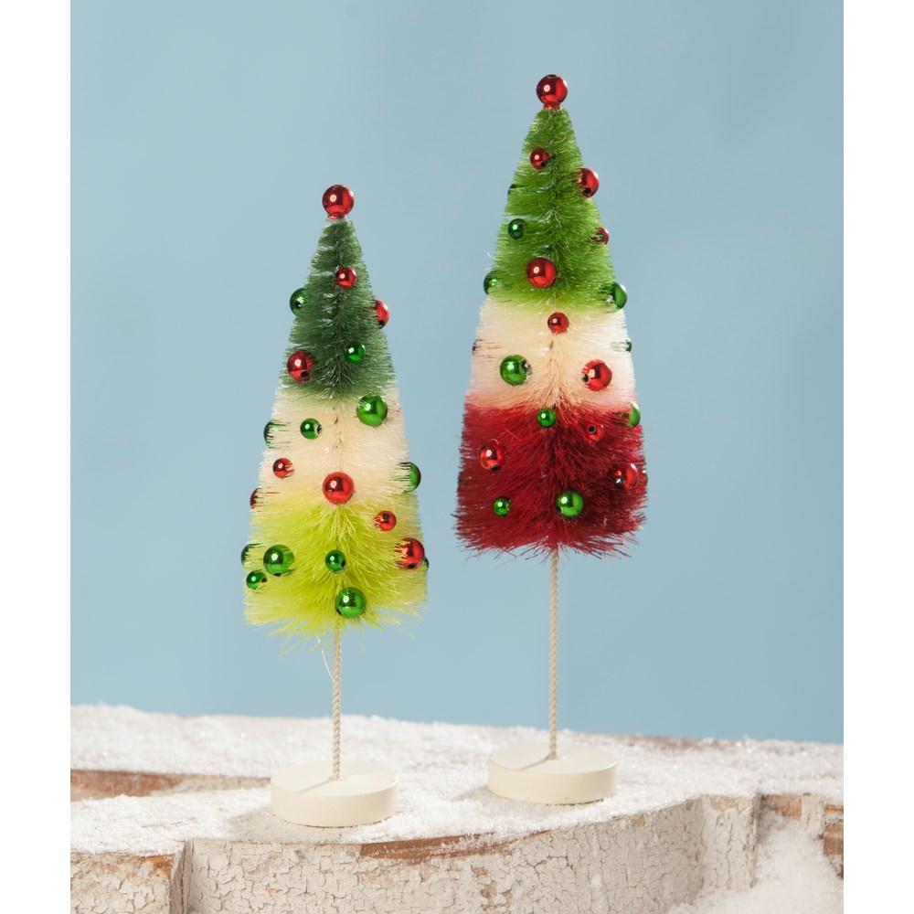 Jolly Tricolored Bottle Brush Trees S2
