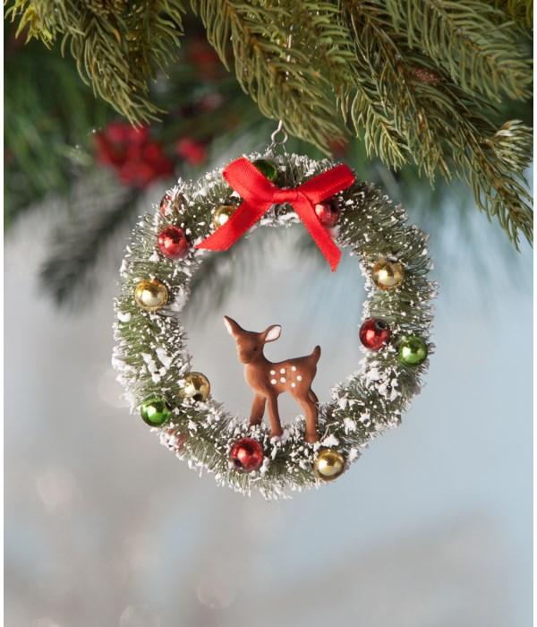 Fawn in Wreath Ornament
