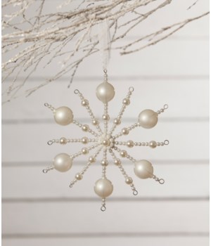 Pearl Snowburst Ornament