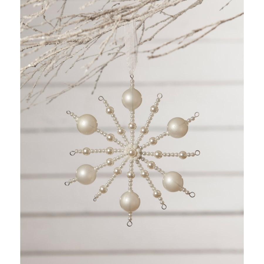 Pearl Snowburst Ornament