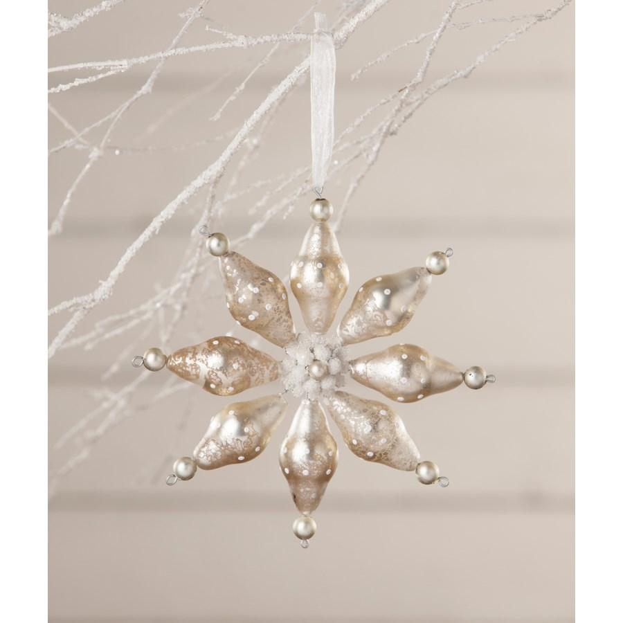 Winter Polkadot Starburst Ornament