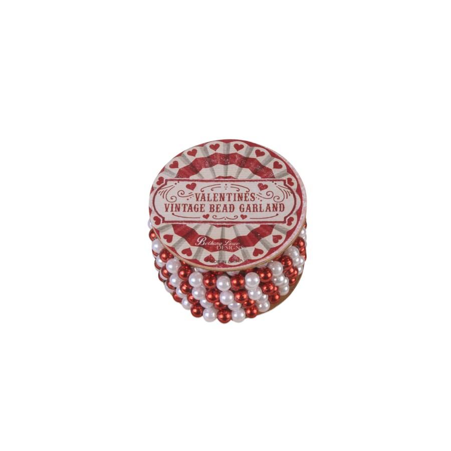 Valentine Mini Bead Garland on Spool