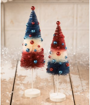 AMERICANA ROCKET BOTTLE BRUSH TREE S/2