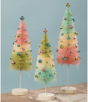 Pastel Confetti Bottle Brush Tree S/3