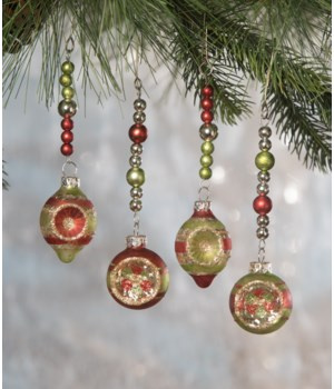 Traditional Indent Dangle Ornament 4/A