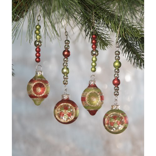 Traditional Indent Dangle Ornament 4A