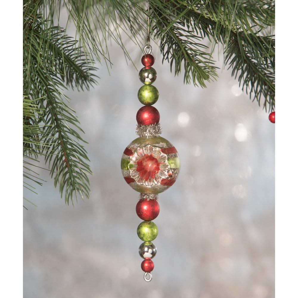 Traditional Beaded Spire Ornament
