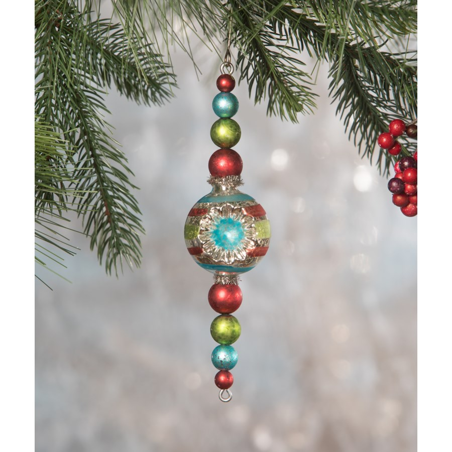 Merry & Bright Bead Spire Ornament