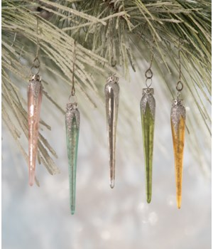 Pastel Mini Icicle Ornament 5A