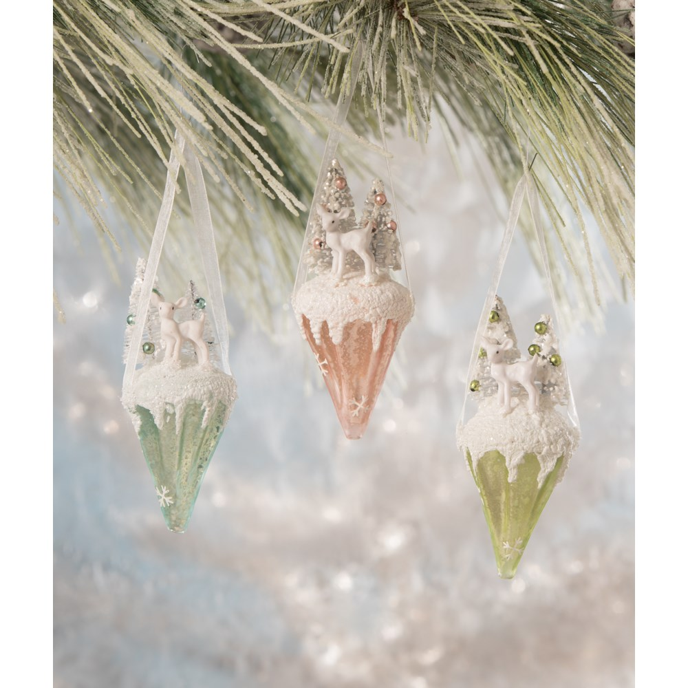 Pastel Deer Glass Cone 3A