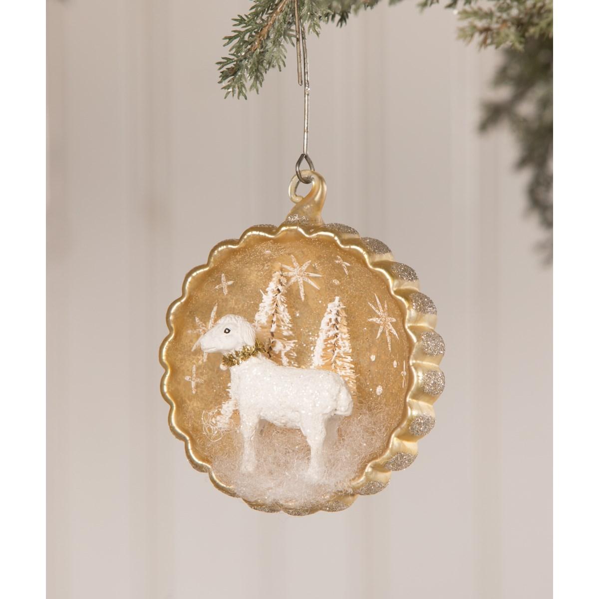 Peaceful Lamb Indent Ornament