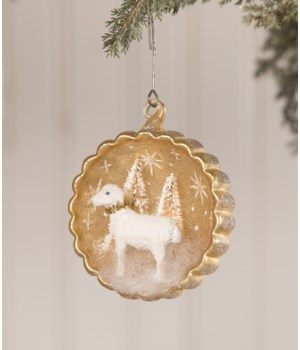 Peaceful Lamb Indent Ornament