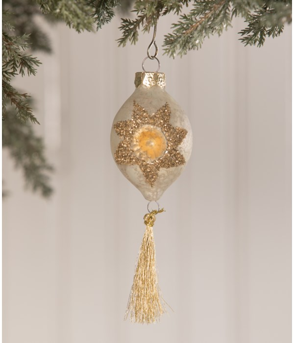 Peaceful Indent Mini Tassel Ornament