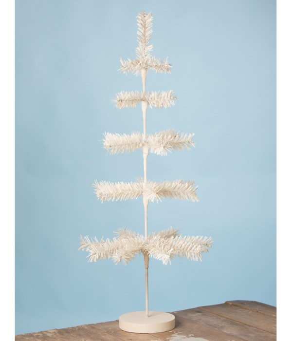 """White Artificial Feather Tree 30"""""""