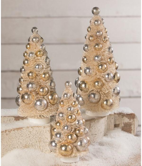 Silver & Gold Bottle Brush Trees S3