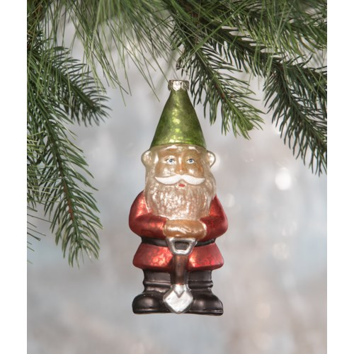 Christmas Gnome Glass Ornament
