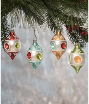 Vintage Teardrop Indent Ornament 4A