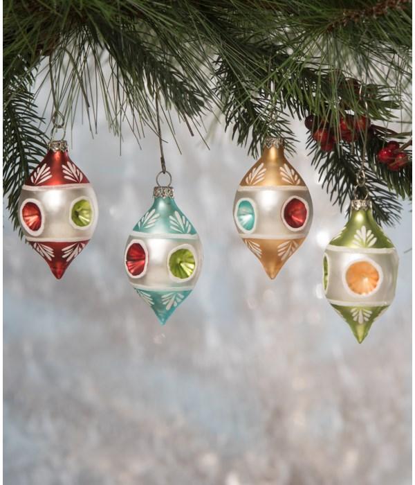 Vintage Teardrop Indent Ornament 4A