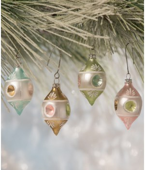 Pastel Teardrop Indent Ornament 4/A