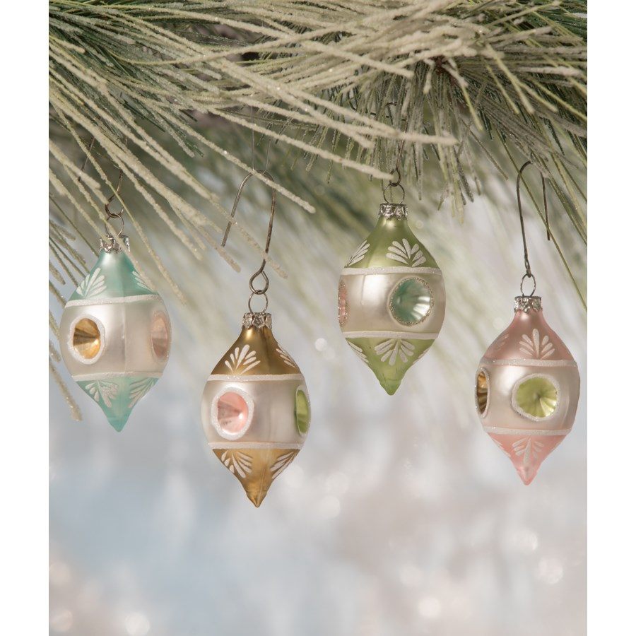 Pastel Teardrop Indent Ornament 4A