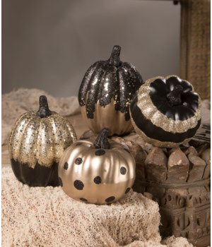 Black And Gold Pumpkin 4/A