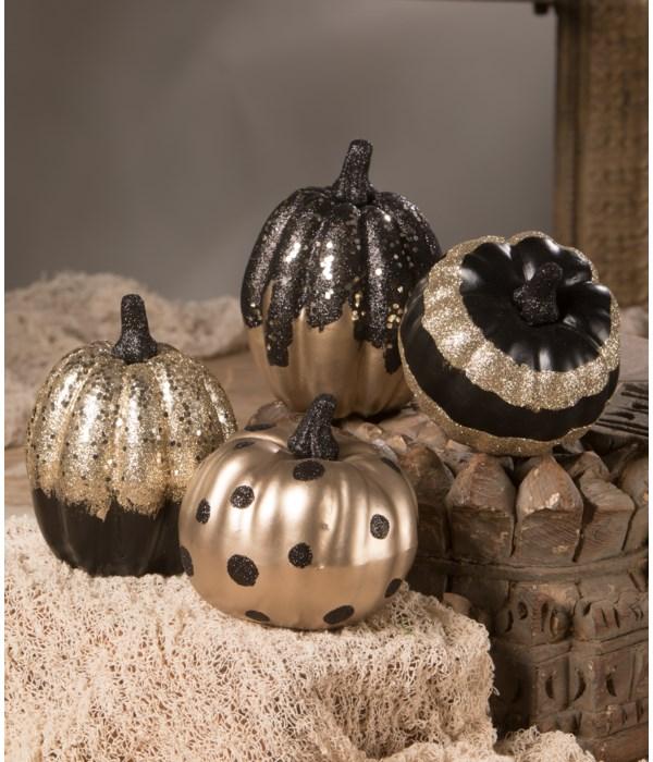 Black And Gold Pumpkin 4A