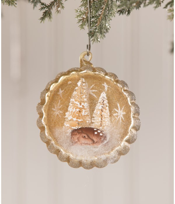 Peaceful Fawn Indent Ornament
