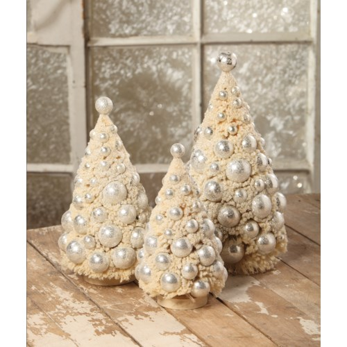 Ivory Platinum Bottle Brush Trees S3