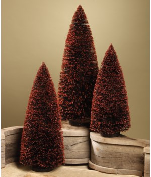 Black Bottle Brush Trees Extra Large S/3