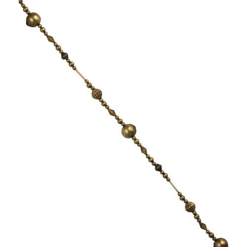 Vintage Gold Bead Garland 9'