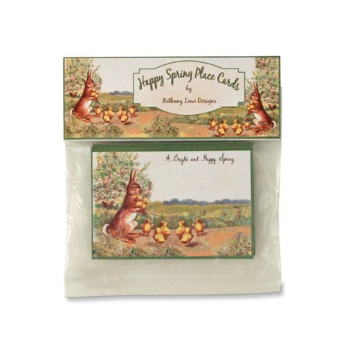 HAPPY SPRING PLACE CARD PK/12