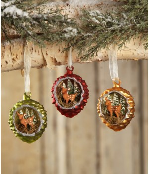 Fawn in Pinecone Indent Ornament 3A