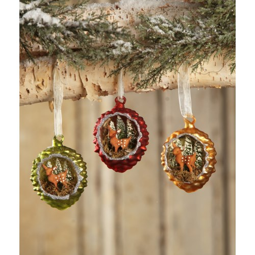 Fawn in Pinecone Indent Ornament 3/A
