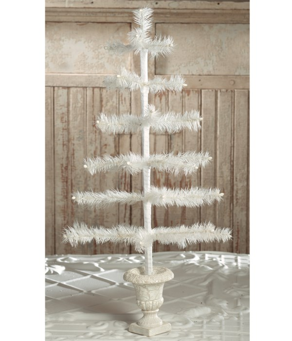 """Feather Tree Ivory in Urn Base 26"""""""