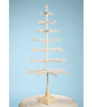 Feather Tree Ivory With Glittered Base 42""