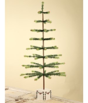 """Feather Tree Green Christmas 50"""""""