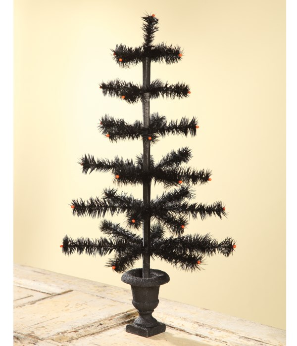 """Feather Tree Black In Urn Base 26"""""""
