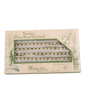 Vintage Silver Glass Bead Garland