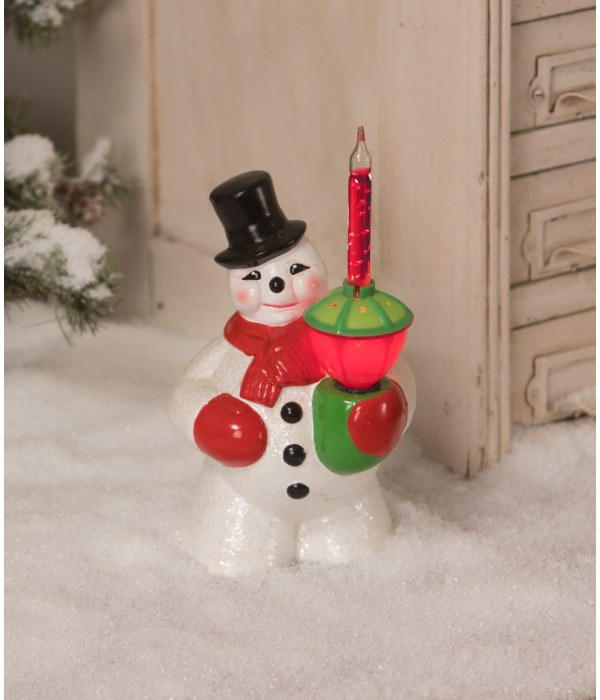 Bubble Light Snowman