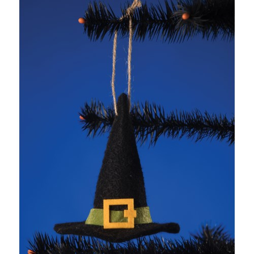 Felted Witch Hat Ornament