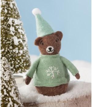 Aqua Sweater Bear